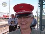 <b>Ilse Preisinger-Sontag</b> in ihrer Freizeit gern Dienstmann am Bahnhof Mühldorf <b>...</b> - Ilse_Dienstmann